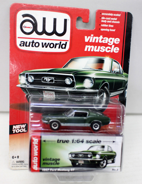 AW 164 1967 Ford Mustang GT Alloy Toy Car Toys For Children Diecast Model Birthday Gift Freeshipping