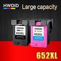 HWDID 652 Заправка картриджей Замена для hp 652XL для hp с чернилами hp Deskjet 1115 1118 2135 2136 2138 3635 3636 3835 4536 4538 принтер