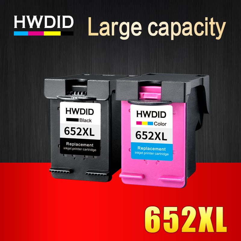 HWDID 652XL Refilled Ink cartridge replacement for HP 652 XL for HP Deskjet 1115 1118 2135 2136 2138 3635 3636 3835 4536 4538