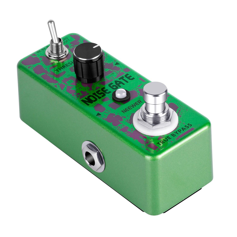 Neewer Noise Killer Guitar Noise Gate Suppressor Pédale d'effet avec 2 modèles de travail pour jouer de la guitare et jouer de la guitare dans un spectacle ou un studio d'enregistrement