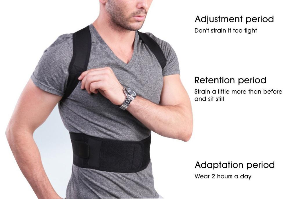 Comfortable Posture Corrector Belt with 10 High Energetic Magnets to Prevent Humpback and Pull Shoulder and Back to Correct Posture 1