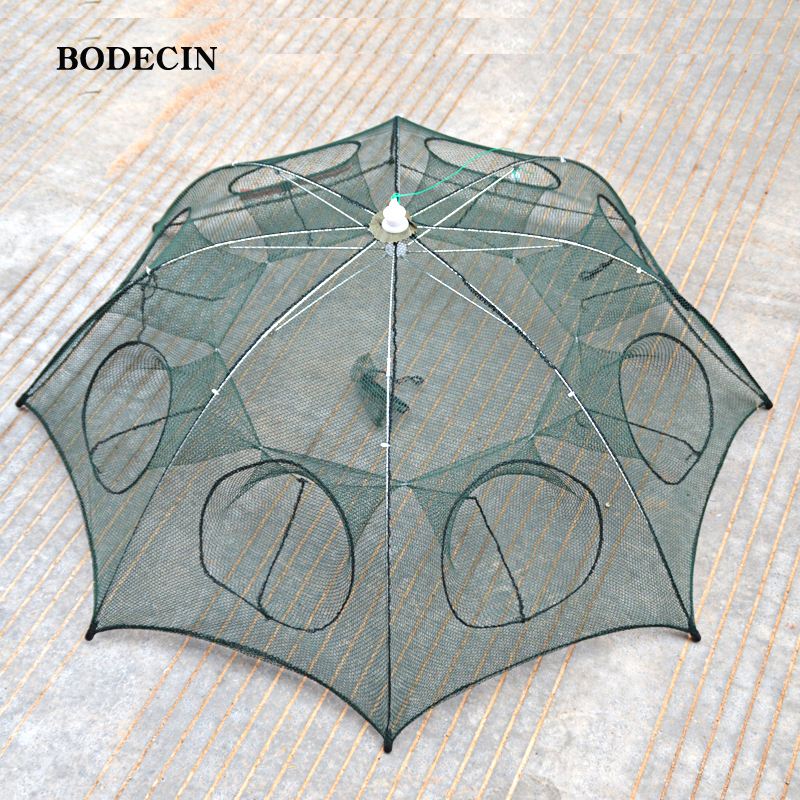 8 Hole Fishing Net Folded Portable Hexagon Fish Network Casting Nets Crayfish Shrimp Catcher Tank Trap China Cages Mesh Cheap (7)