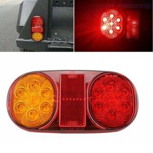 Image 3 - Amarillo + rojo luces traseras LED parada ABS impermeable indicador coche barco bombillas Trailer accesorios DC 10 30V