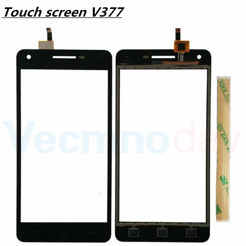 New 5.0 For Philips Xenium v377 Front Panel Touch Screen sensor Mobile Phone glass Replacement Digitizer