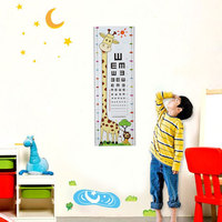 Creative Cartoon Kids Height Visual Chart Wall Stickers DIY Decals Home Decor