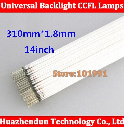 10pcs Free shipping 14.1 screen LCD CCFL lamp CCFL backlight tube 310mm*1.8mm 14 inch screen CCFL light