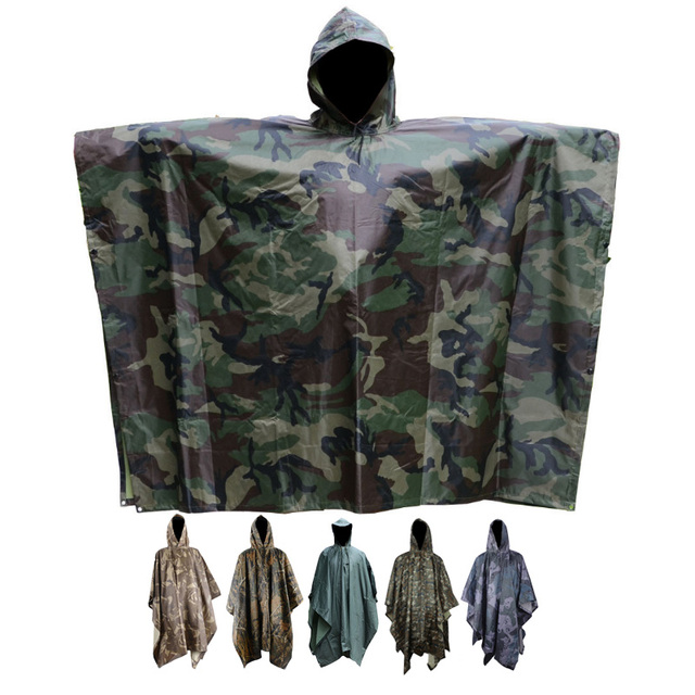 Outdoor c&ing jungle Hunting 3 in 1 Tactics Camouflage Bionic Military Raincoat Poncho Backpack Rain Cover  sc 1 st  AliExpress.com & Outdoor camping jungle Hunting 3 in 1 Tactics Camouflage Bionic ...