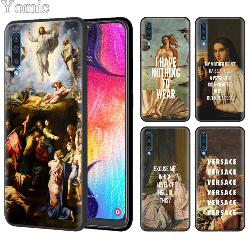 Classic Art Memes Quotes Silicone Case for Samsung Galaxy A50 A70 A10 A20 A30 A40 A6 A7 A8 Plus A9 M30 M20 Black Case Cover image
