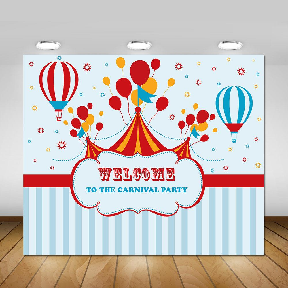 Circus Carnival Theme Party background polyester or Vinyl cloth High quality Computer print children kids backdrop цена и фото