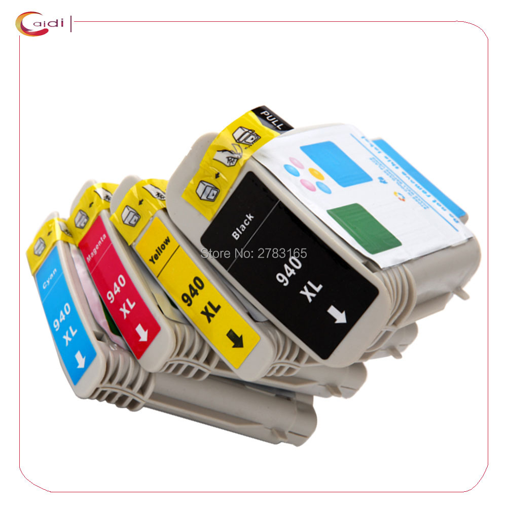 4Color Compatible ink cartridge For HP 940 <font><b>940XL</b></font> C4906A C4907A C4908A C4909A ink cartridge For HP Officejet Pro 8000 8500 image