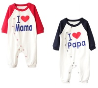 I Lvoe Mama Baba Pure Cotton Newborn Boy Girl Romper Baby Clothes Cute Infant Sleepwear Winter