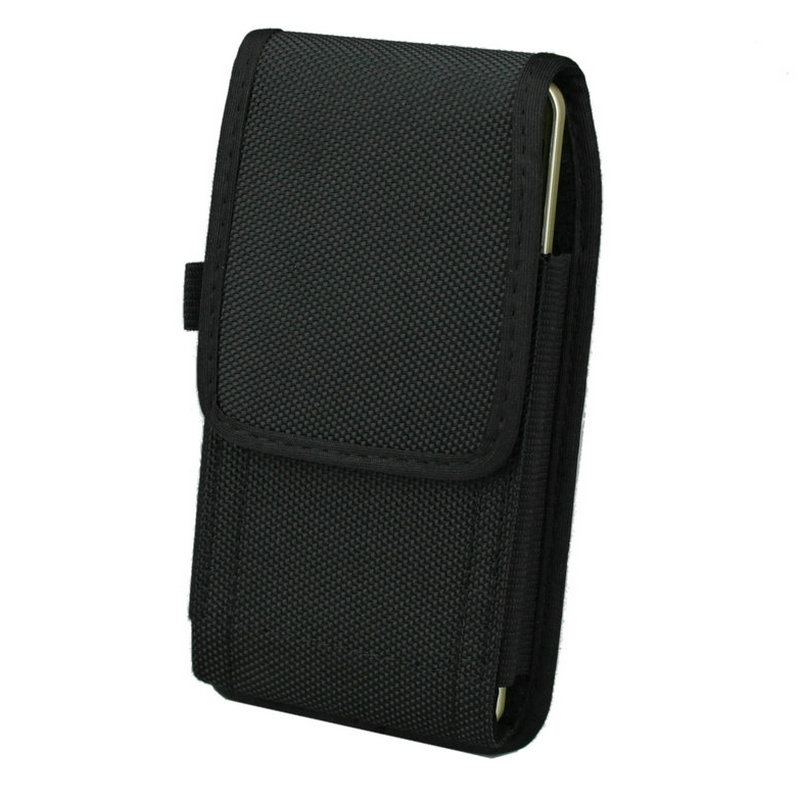 Nylon Pouch For iPhone 8 Plus 5.5 inch Belt Clip/Loop Holster with Spring Clip Hook for Huawei Mate 7/8 /Google Nexus 6P