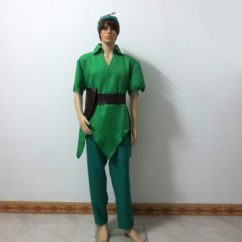 Peter Pan Costume Green Fancy Dress Carnival Party Halloween Uniform Outfit Cosplay Costume Customize Any Size