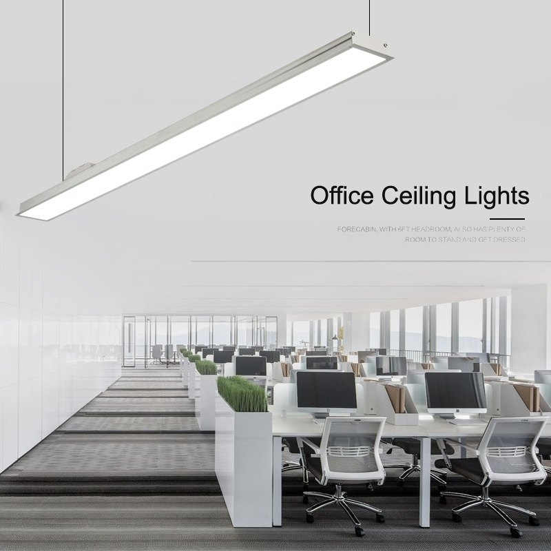 NEW Slim Office Hanging Lights Thin Aluminum Long Ceiling ...