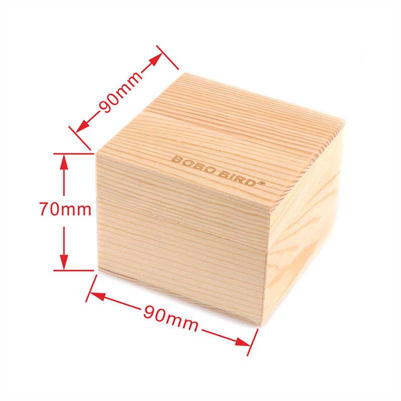 BOBO BIRD caja de madera de bambú en blanco para reloj/Cajas de Regalo de joyería
