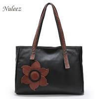 Women Handbag Genuine Leather Bag Handmade Tote Bag For Lady First Layer Cow Leather Shoulder Bag