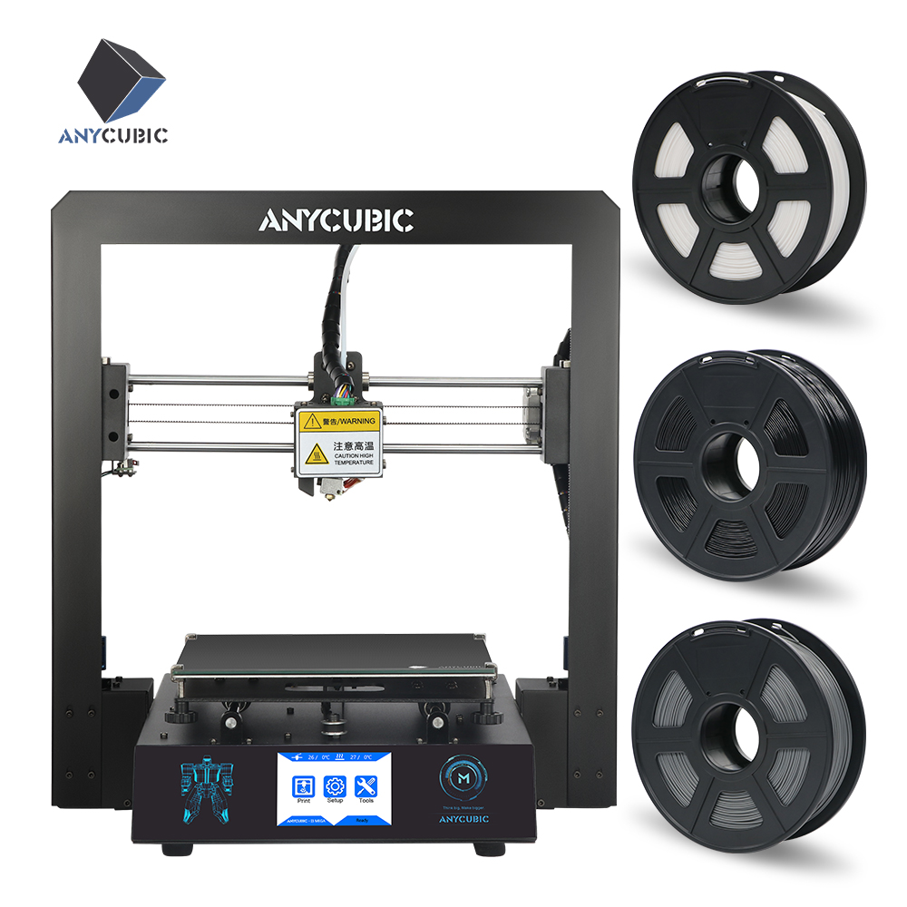 Anycubic I3 Mega 3d Printer Full Metal Frame Ultrabase Platform Desktop Filament Extruder Kit Cheap 3d