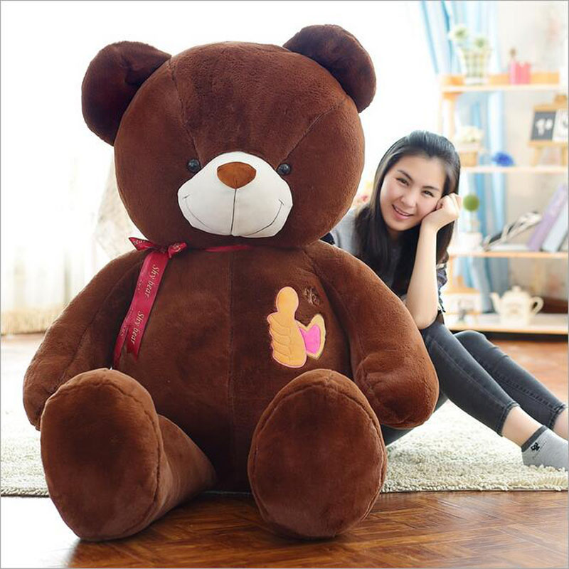 plush toy teddy bear thumb Hug the bear doll 90cm /1.9KG gift for girlfriend graco качели lovin hug bear trail into the woods