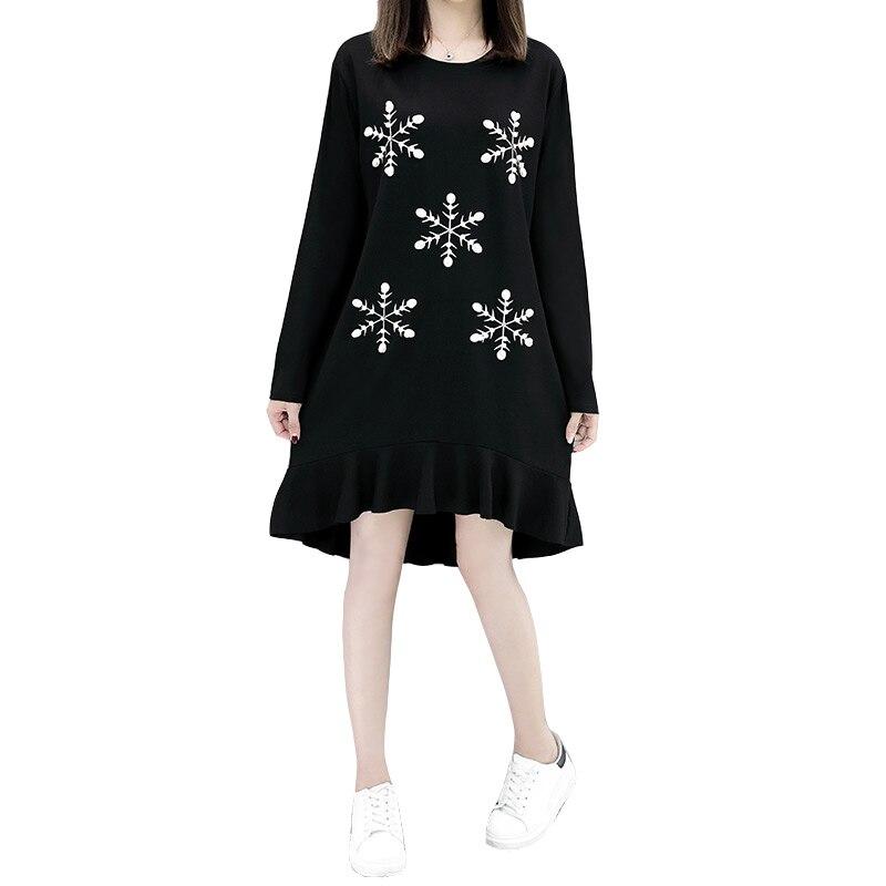 Vestidos Plus Size Stampa Coreano Moda Collo Nuovo Abiti Bead 2017 Donna  Nail Autunno Cantieri Vestito ... 1d7ad61b1f4