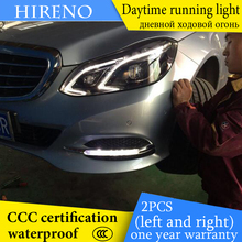Hireno AUTO WAY For Merceeds-Benz E260 E300 E400 2015 Car Daytime running lights Signal Function Relay Waterproof 12V
