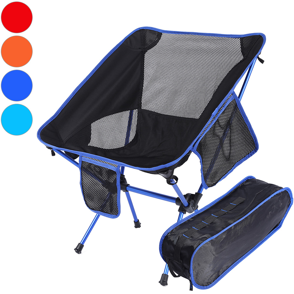 Portable Folding Chairs Camping Detachable Slacker Chairs Fishing Stool Hiking Traveling Rest Seat with Carry Pouch Carp Fishing