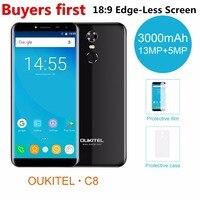 Oukitel C8 5 5Inch 18 9 Display Smartphone Android 7 0 3000mAh 2GB RAM 16GB ROM