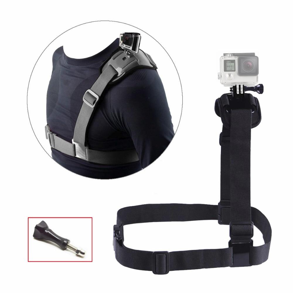 Bröstskuldermonteringsrem för Gopro Hero 6 5 4 Tillbehör Xiaomi Yi 4K Bältessats för Go Pro SJCAM Action Camera