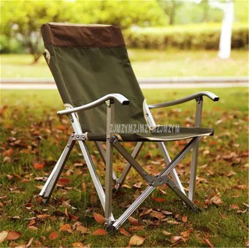 Portable Folding Fishing Chair 600D Oxford Aluminium Tube Backrest Foldable Picnic Camping Outdoor Beach Chair With Bag