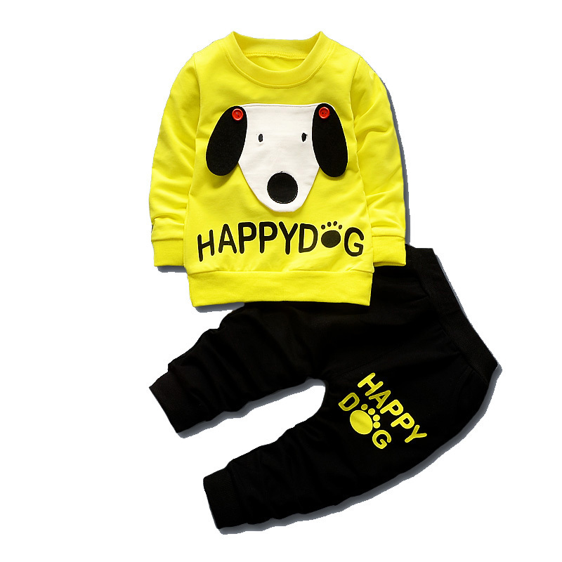 2018 Spring Autumn Children Boys Girls Cartoon Suits Baby T-shirt Pants 2Pcs/Sets Kids Fashion Dog Clothes Toddler Tracksuits kids sport suits boys girls tracksuits children clothing baby infant outfits 4 color fashion sets 2018 spring autumn kid clothes