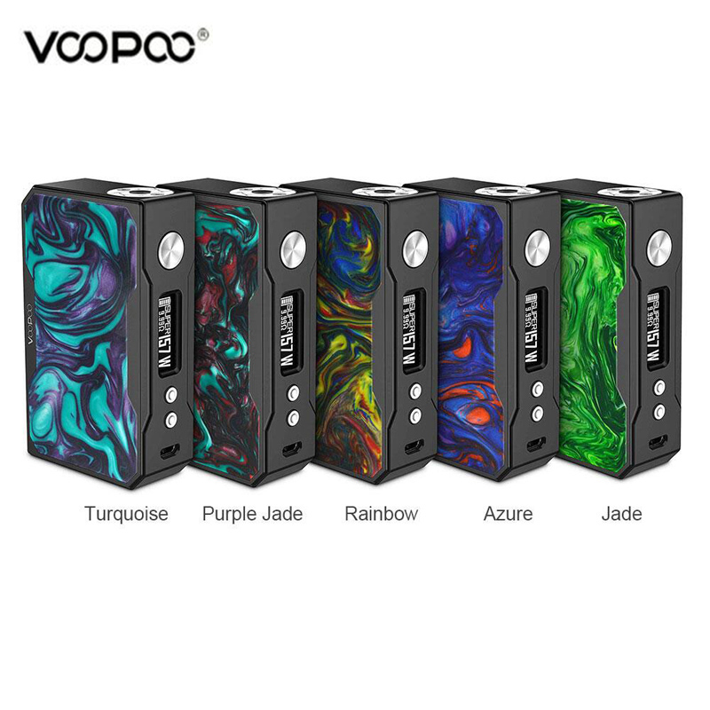 Original VOOPOO Black Drag Resin 157W TC Box MO VW/TC Vape Electronic Cigarette Drag Vapor Kit цены
