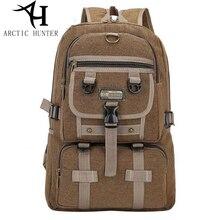 ARCTIC HUNTER Canvas Men Backpacks for Men travel bag Big large capacity zipper solid male backpack for Teenagers Rucksack