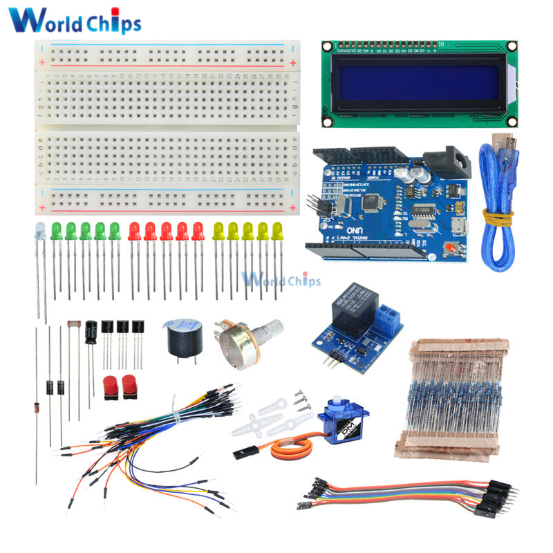 Potentiometer 235 Items For Arduino Wide Selection; Ambitious Electronic Diy Kit Bundle With Breadboard Cable Resistor Led Capacitor