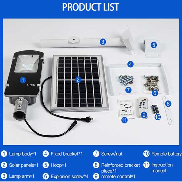 BEYLSION LED Solar Street Light Solar Light Outdoors Solar Street Lights Solar Lamps  Outdoor Lamps 50W 100W + Remote Controller 5