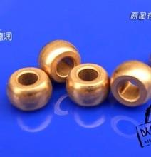 20pcs/lot Inner Diameter :4mm Outer diameter:7.55mm  Length: 5mm. Powder Metallurgy Pure Copper Micro-spherical Oil Bearing