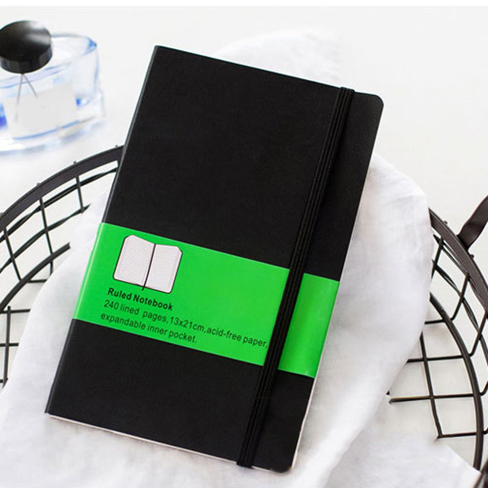 Classic A5 Bandage Soft PU Leather Cover Notebook 96 Sheets Business Diary Notes Records School Office Supplies Stationery a6 small business notebook retro style leather notebook office learning notes notebook comes with a pen