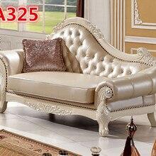 Итальянские кожаные деревянный резной диван конструкции A325
