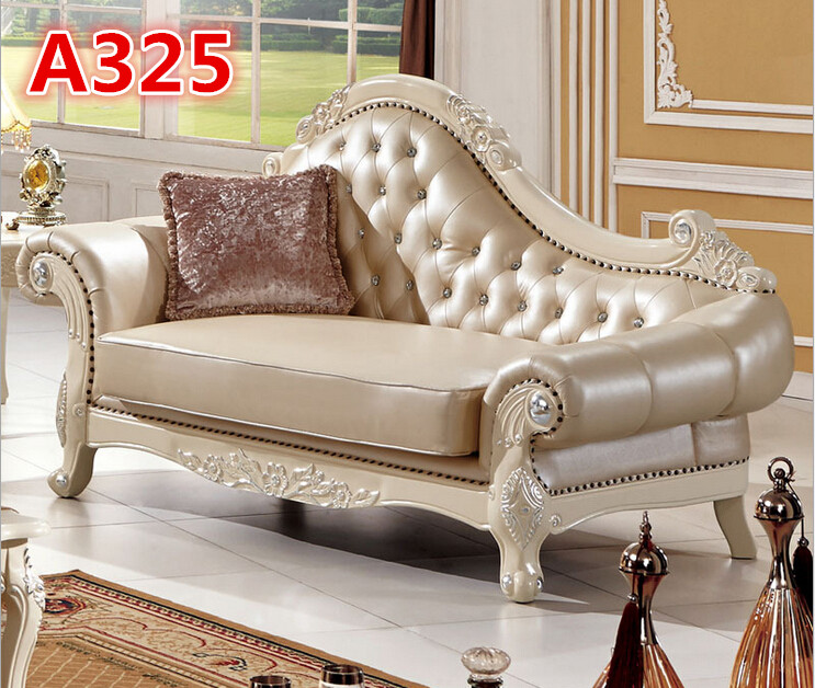 Italian leather wooden carved sofa set designs A325in