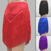 Adult Latin Dance Performances Tassel Skirt Adult Children Practise Dance Skirt Dance Fringe Skirt Latin Ballroom Costume
