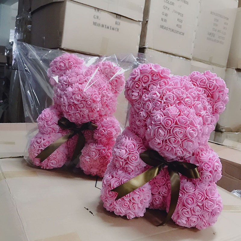 rose bear flower bear teddy gift box  (8)