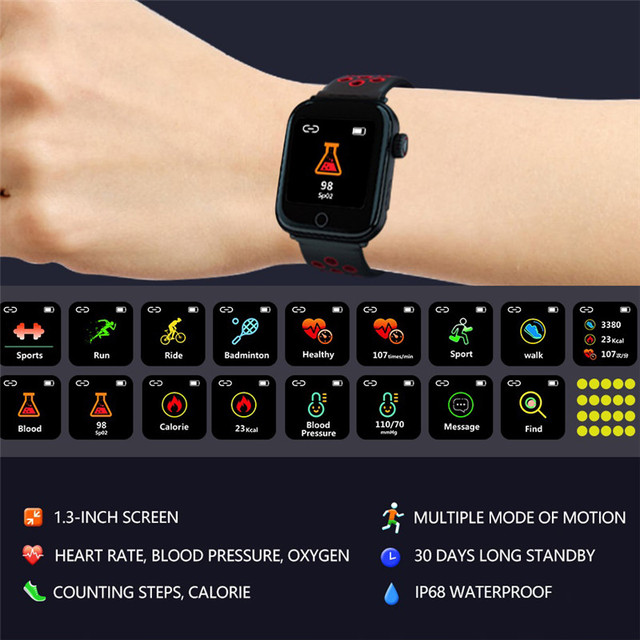 H&A IP68 Waterproof Smart Watch Heart Rate Monitor Sport Bracelet Band on the For iPhone IOS Android Smartwatch Men Watches