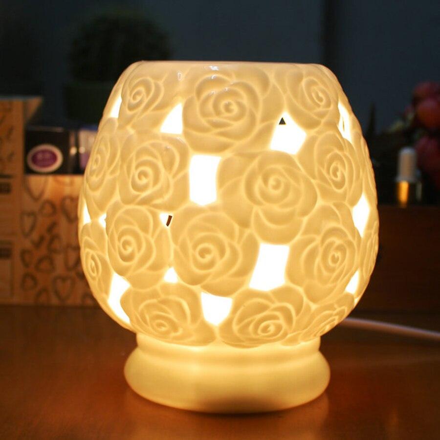 Керамические лампы для эфирных масел, ароматерапия, печь для спальни, романтическая красота, свеча, печь для украшения дома, KOB18