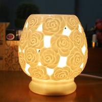 Ceramic Essential Oil Lamps Aromatherapy Stove Bedroom Romantic Beauty Hollowing Candle Furnace Home Furnishing Decoration KOB18