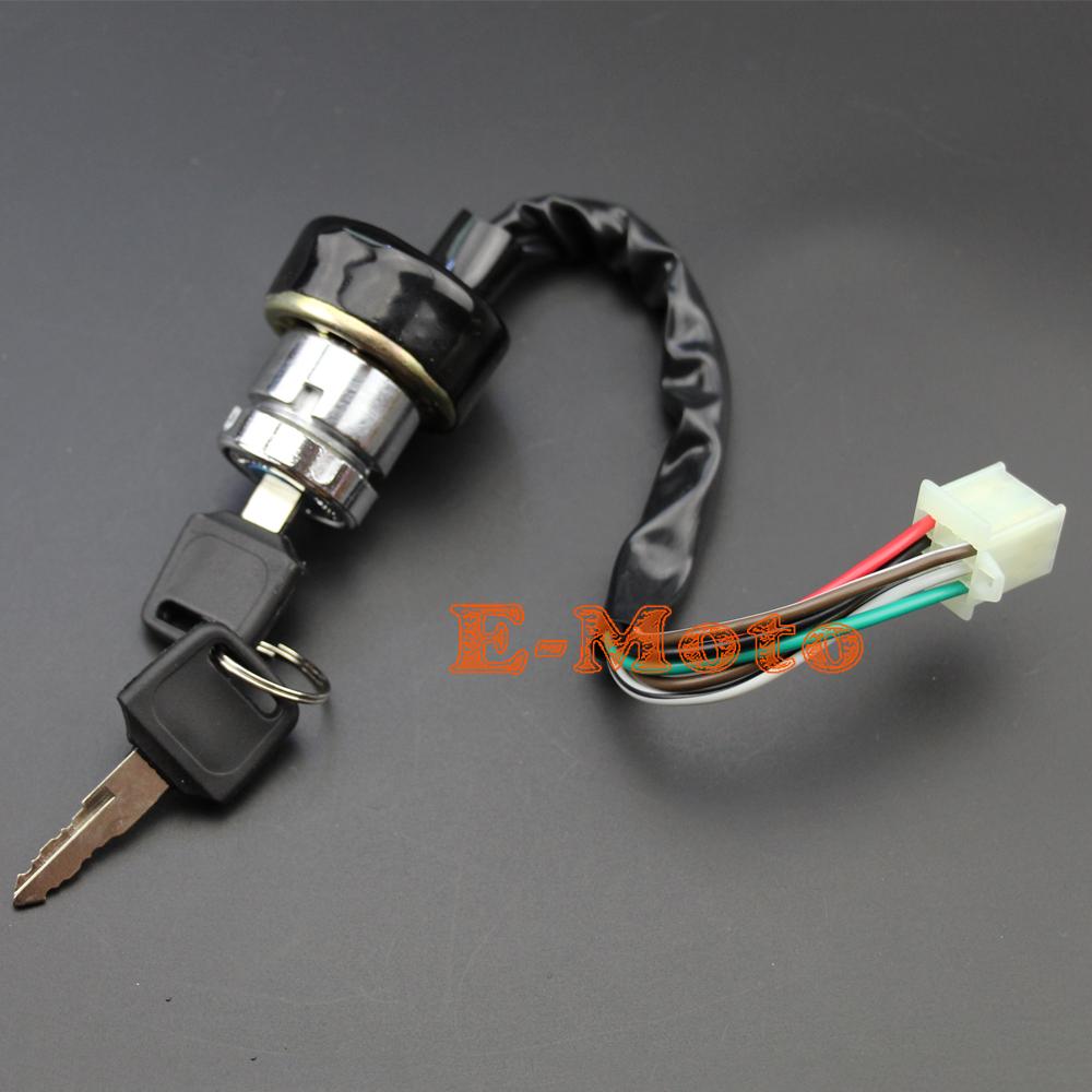 ignition key switch 6 wire for kazuma meerkat 50 falcon redcat 90 110 cc chinese atv e moto new [ 1000 x 1000 Pixel ]