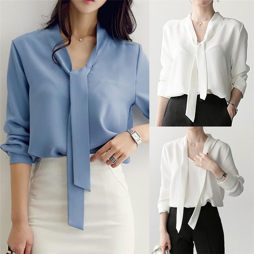 Blouses & Shirts Durable 2017 Hotselling Shirt Plus Size Women Long Sleeve Tunic V Neck Loose Tops Casual Shirt Blouse B15 A#487