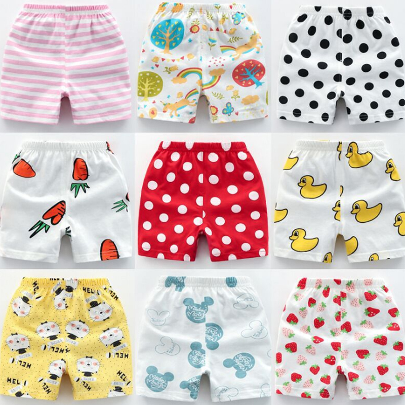 2019 Summer Children's Clothing Girls Boys Shorts Children Cartoon Cotton Baby Children's Shorts Leggings Can Cut Open Crotch