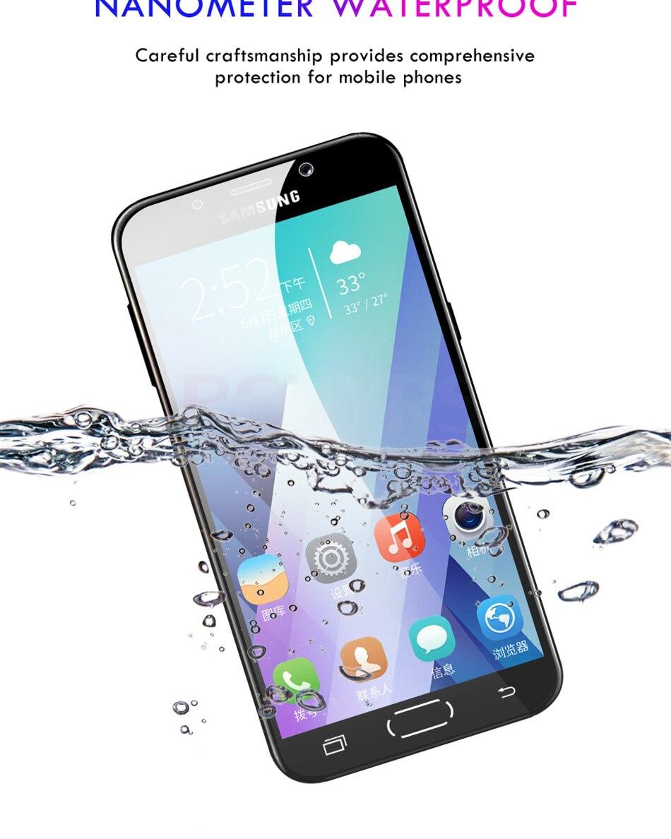 3 sztuk folia na wyświetlacz 9H 2.5D szkło hartowane dla Samsung Galaxy A7 A9 2018 J6 A6 A8 J4 Plus szkło ochronne do Samsung A5 2017 12