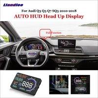 Liandlee Car Head Up Display HUD For Audi Q3 Q5 Q7 SQ5 2010 2018  Dynamic Driving Computer HD Projector Screen OBD Detector Head-up Display     -
