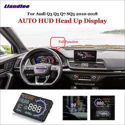 Wyświetlacz do samochodu Liandlee HUD dla Audi Q3 Q5 Q7 SQ5 2010-2018 dynamiczny komputer jazdy HD ekran projektora OBD detektor