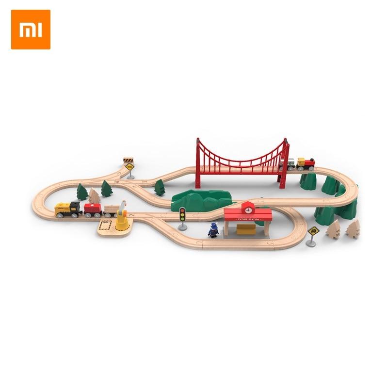 Xiaomi Mitu Wooden Track Blocks Smart electric train set Gift for Kids