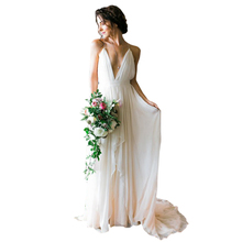 Bbonlinedress Beach Wedding dresses 2019 Backless Empire gowns Sexy Chiffon Bridal Gown New Arrival Party Dress